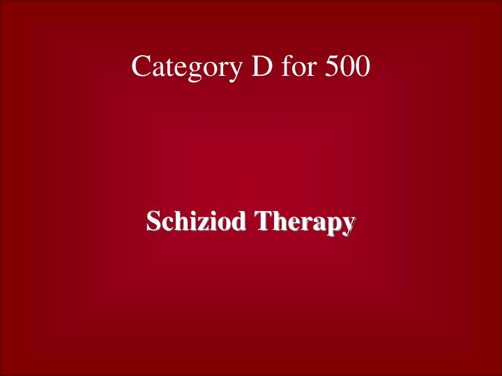 Category D for 500