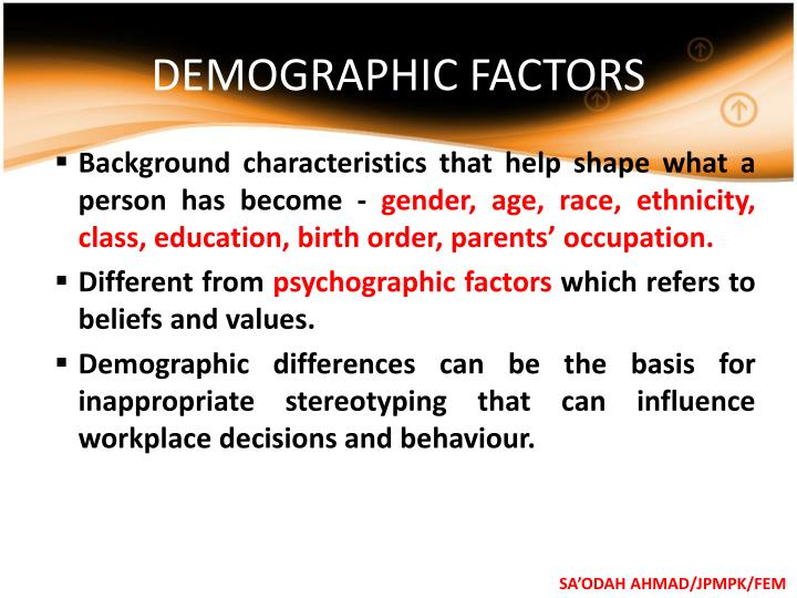 DEMOGRAPHIC FACTORS