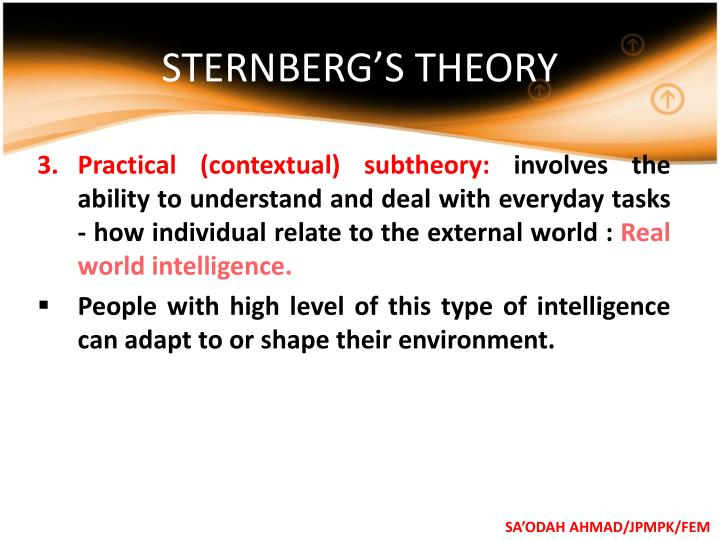 STERNBERG'S THEORY