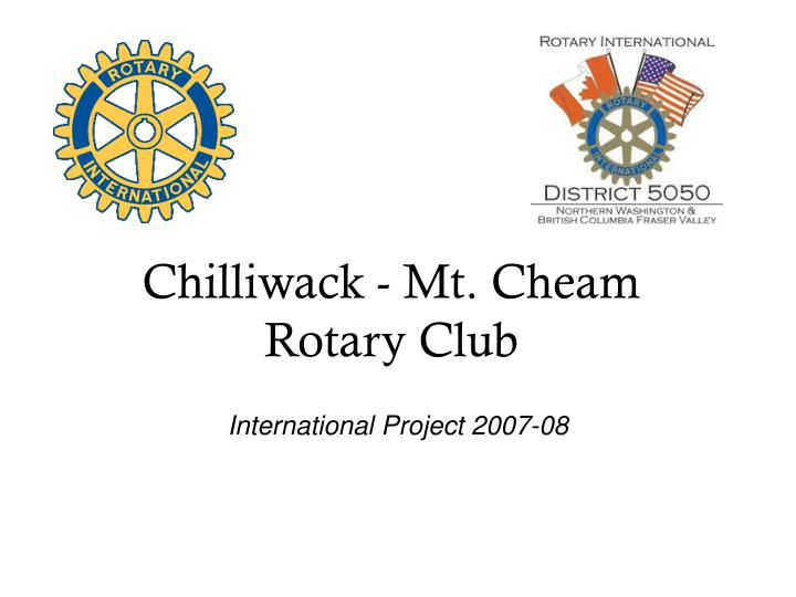 Chilliwack mt cheam rotary club