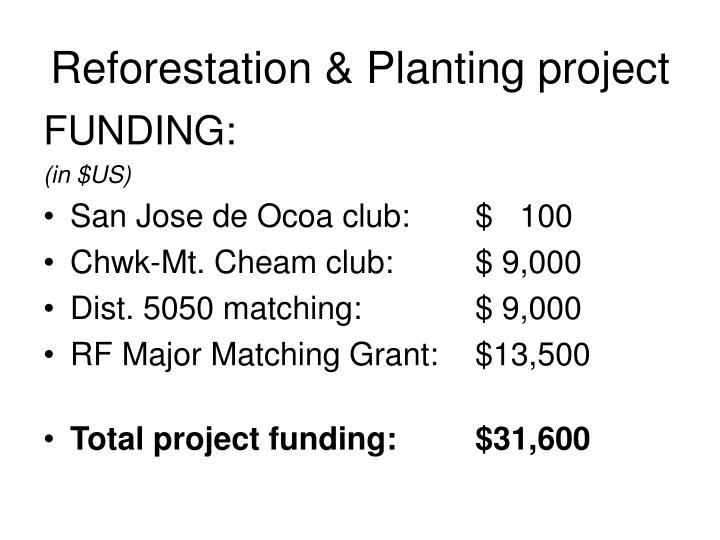 Reforestation & Planting project