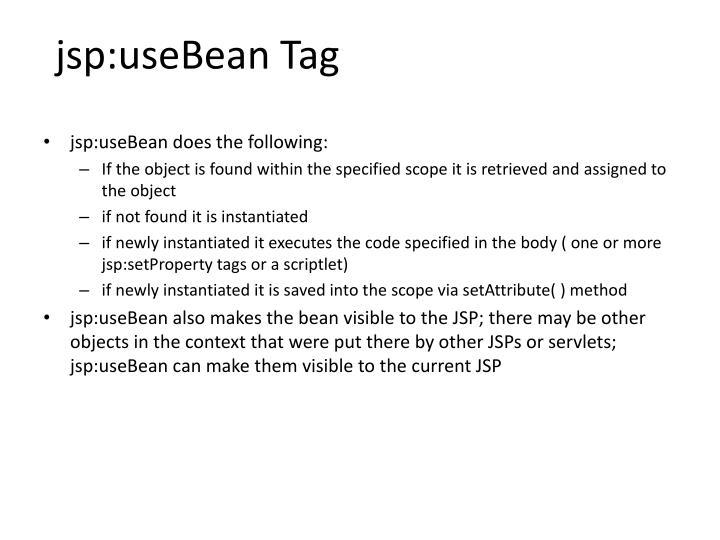 jsp:useBean Tag