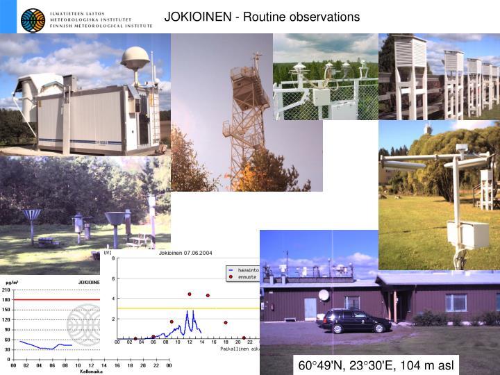 JOKIOINEN - Routine observations