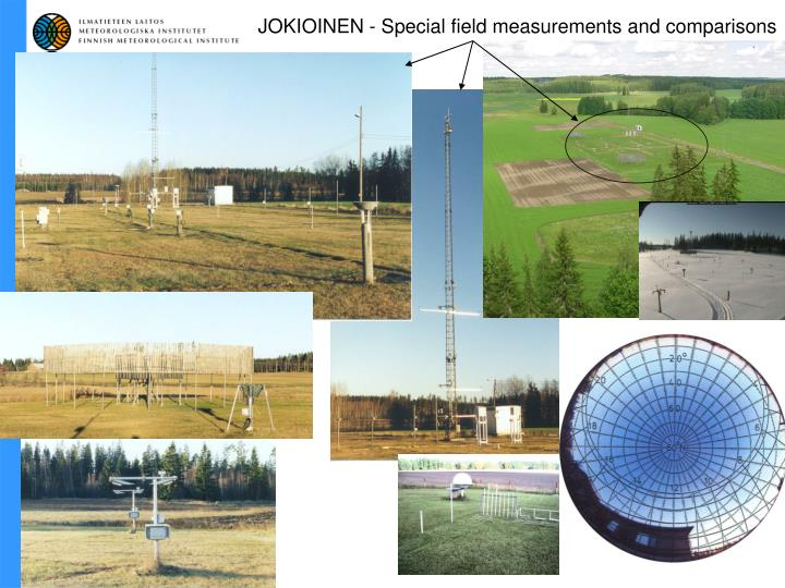JOKIOINEN - Special field measurements and comparisons