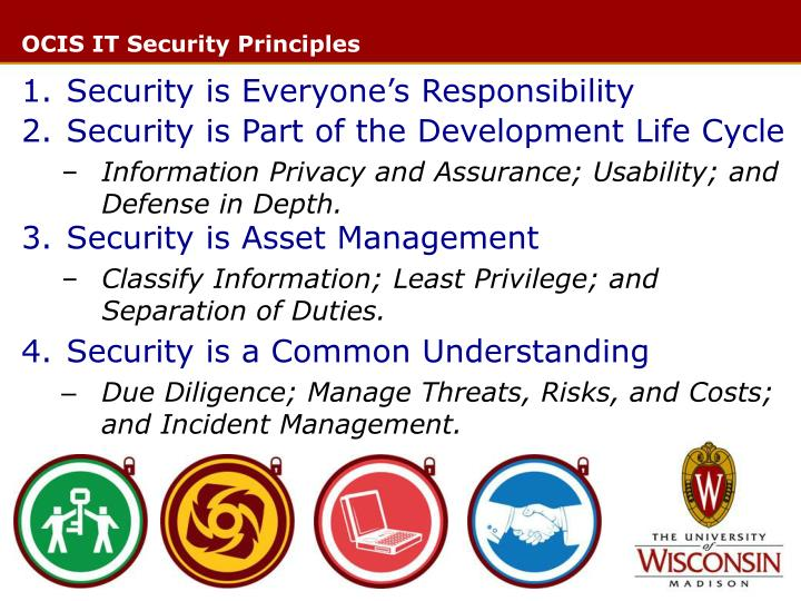 Ocis it security principles