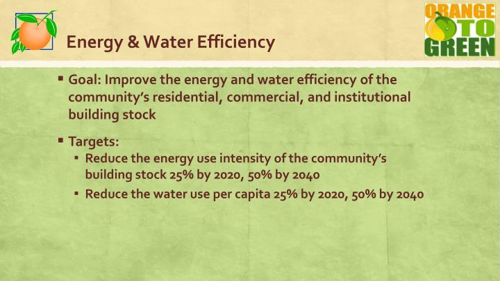 Energy & Water Efficiency