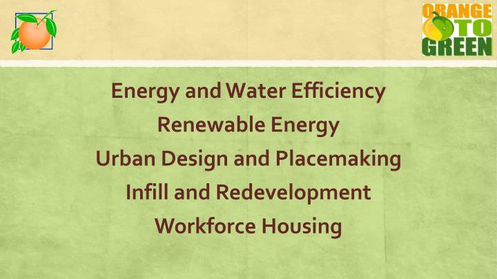 Energy and Water Efficiency
