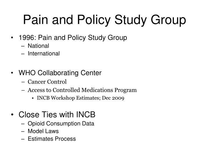 Pain and Policy Study Group