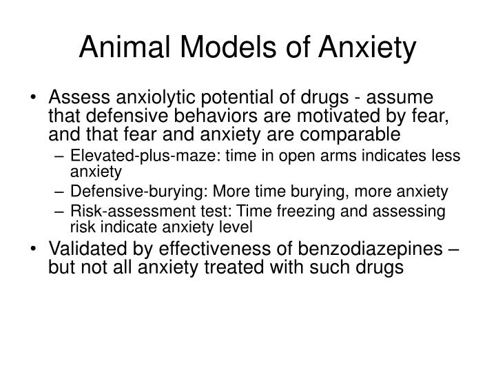 Animal Models of Anxiety