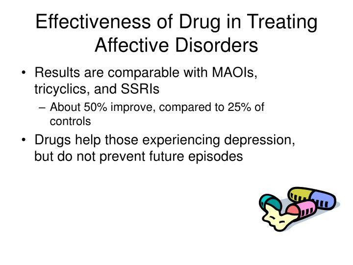 Effectiveness of Drug in Treating Affective Disorders