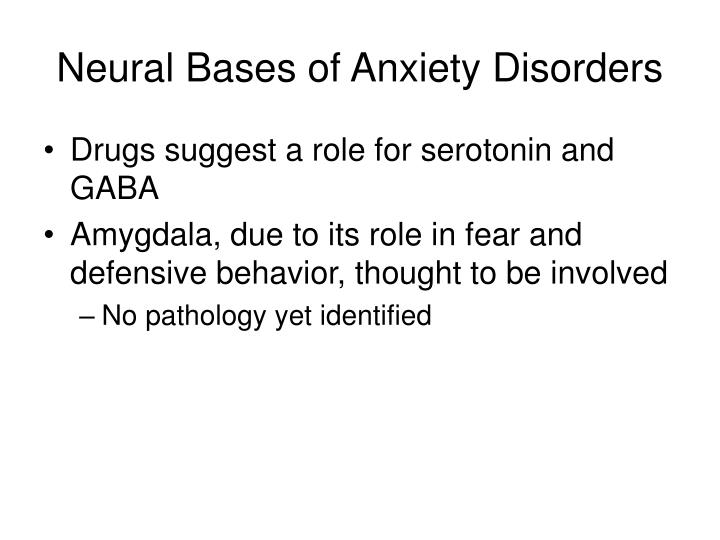 Neural Bases of Anxiety Disorders