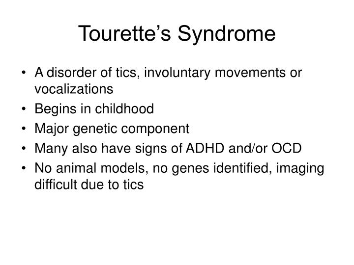 Tourette's Syndrome