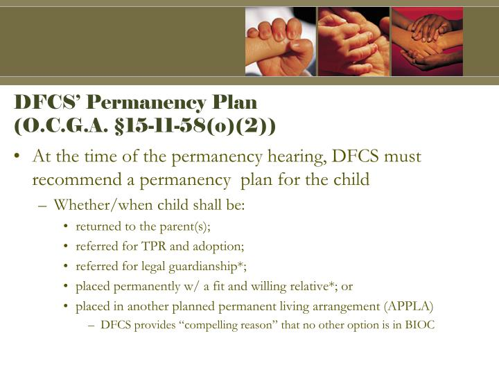 DFCS' Permanency Plan