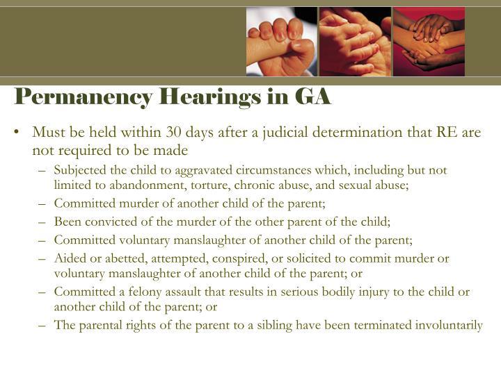 Permanency Hearings in GA