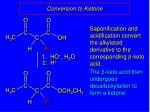 conversion to ketone