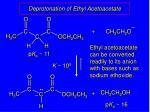 deprotonation of ethyl acetoacetate1