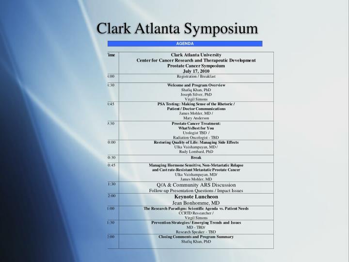 Clark Atlanta Symposium