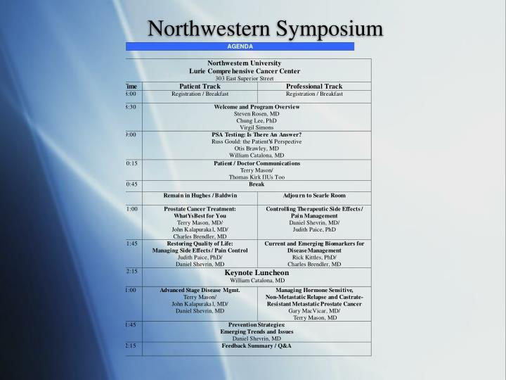Northwestern Symposium