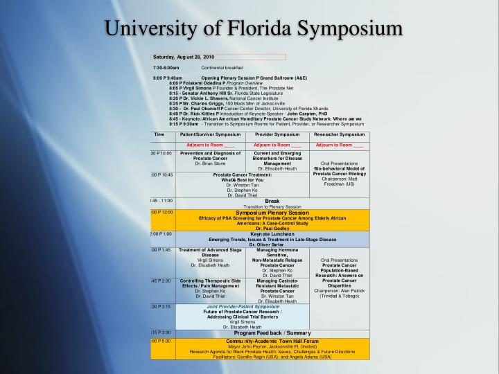 University of Florida Symposium