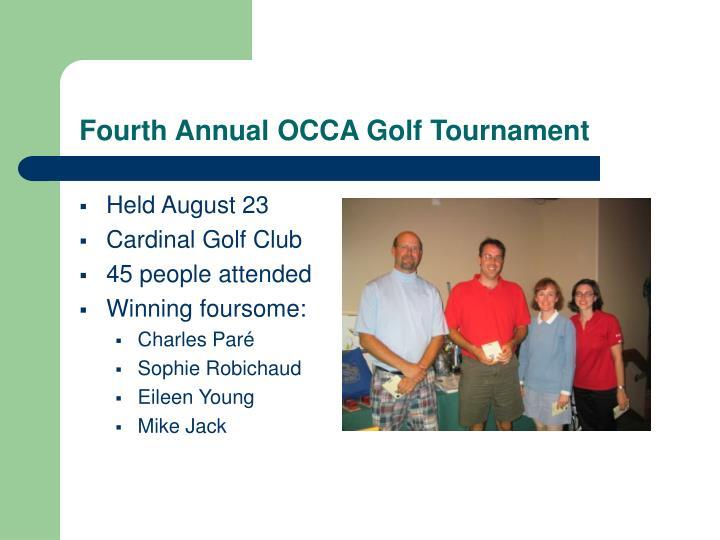 Fourth Annual OCCA Golf Tournament