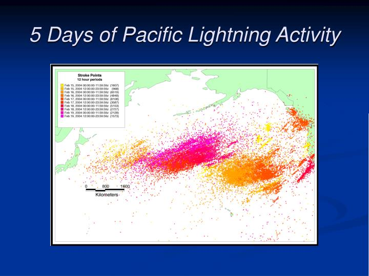 5 Days of Pacific Lightning Activity
