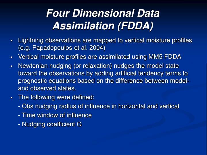 Four Dimensional Data Assimilation (FDDA)