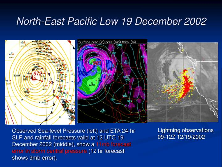 North-East Pacific Low 19 December 2002