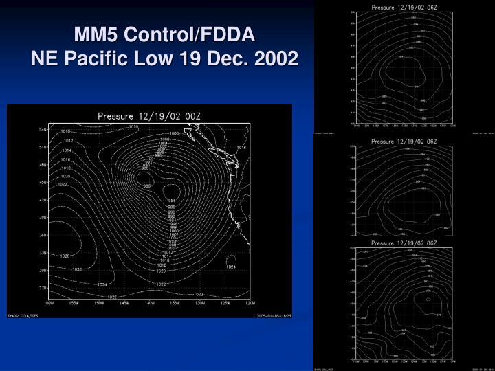 MM5 Control/FDDA