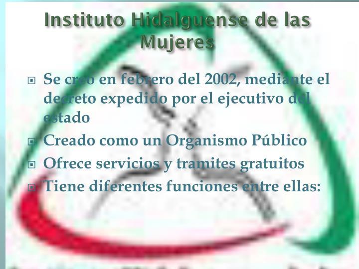 Instituto Hidalguense de las Mujeres