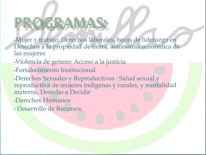 Programas: