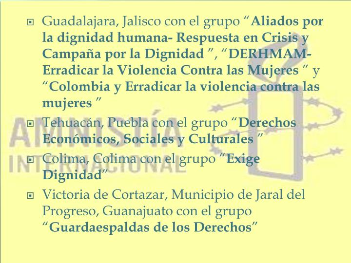 """Guadalajara, Jalisco con el grupo """""""