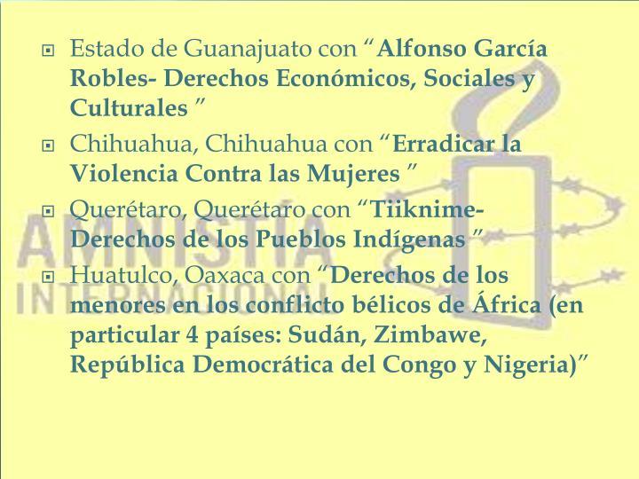 """Estado de Guanajuato con """""""