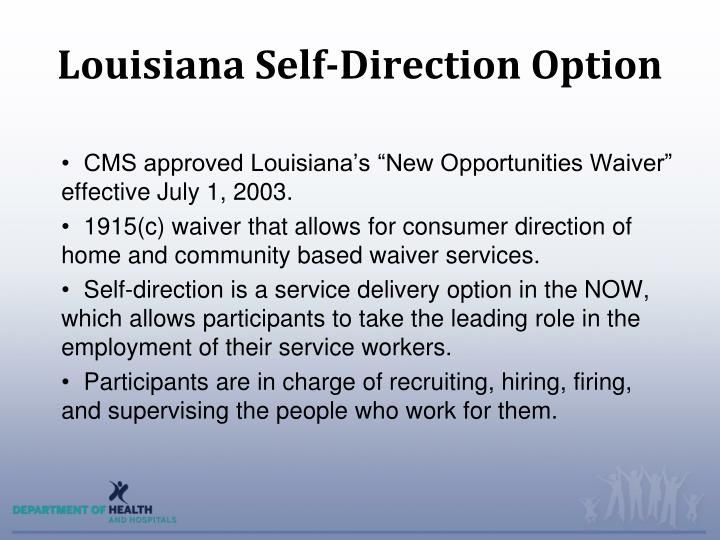 Louisiana self direction option