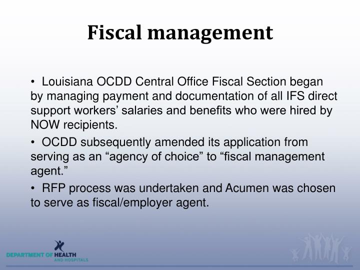 Fiscal management