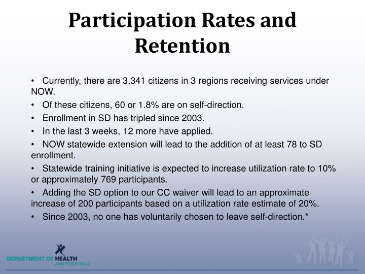 Participation Rates and Retention