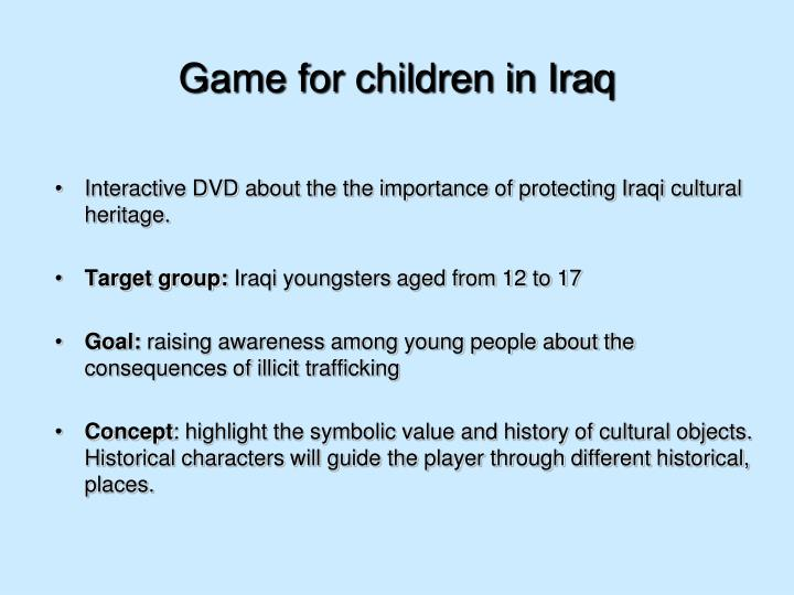 Game for children in Iraq