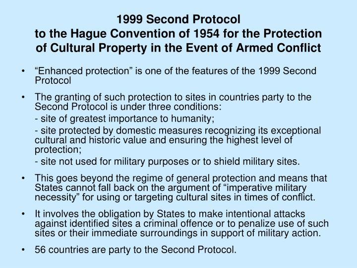 1999 Second Protocol