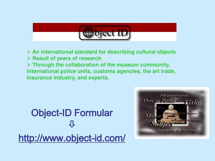 Object-ID Formular