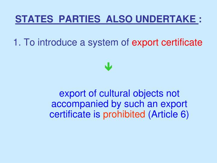 STATES  PARTIES  ALSO UNDERTAKE