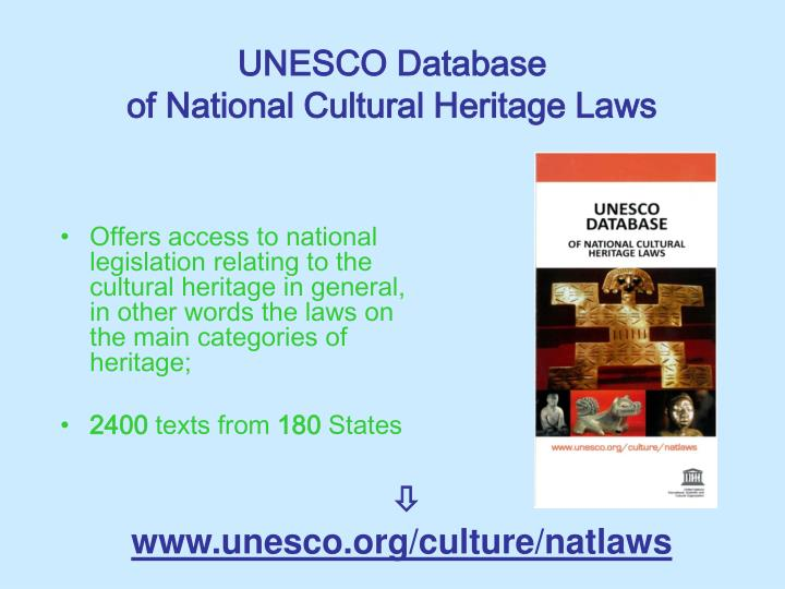 UNESCO Database