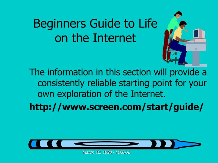 Beginners Guide to Life on the Internet