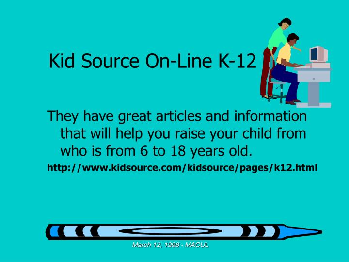 Kid Source On-Line K-12