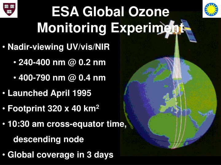 ESA Global Ozone Monitoring Experiment