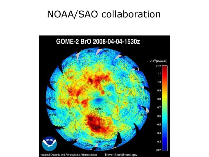 NOAA/SAO collaboration