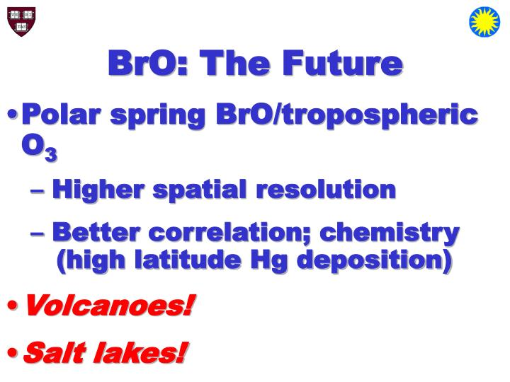 BrO: The Future