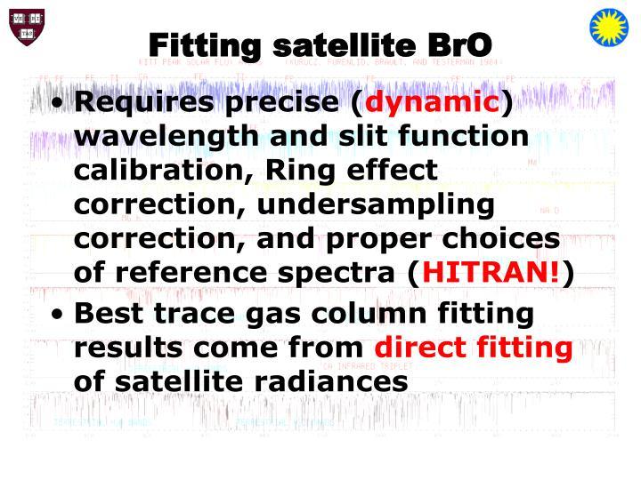 Fitting satellite BrO