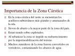 importancia de la zona c rstica