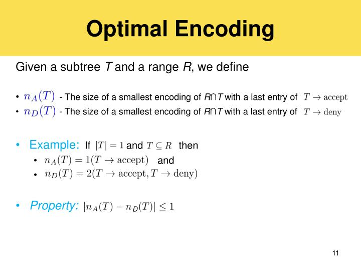 Optimal Encoding