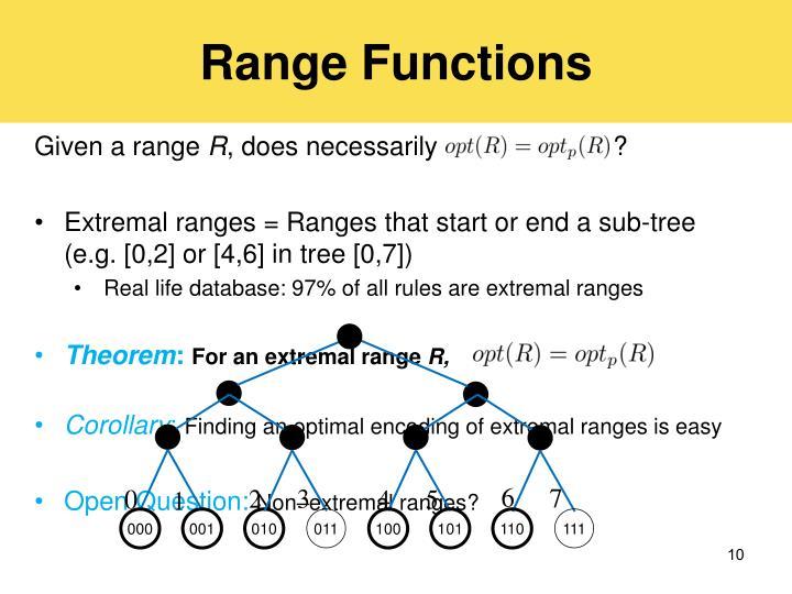 Range Functions