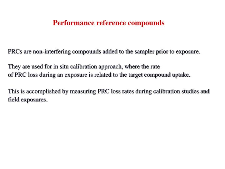 Performance reference compounds